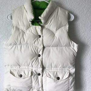 American Eagle Reversible White and Green Vest